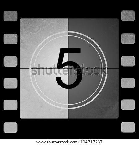 Film countdown 5 - stock photo