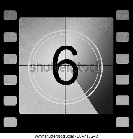 Film countdown 6 - stock photo