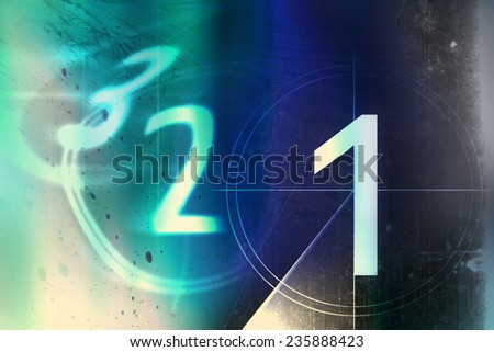 film countdown 3 2 1 - stock photo