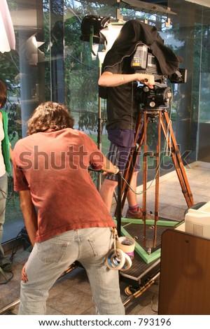 Film Crew - stock photo