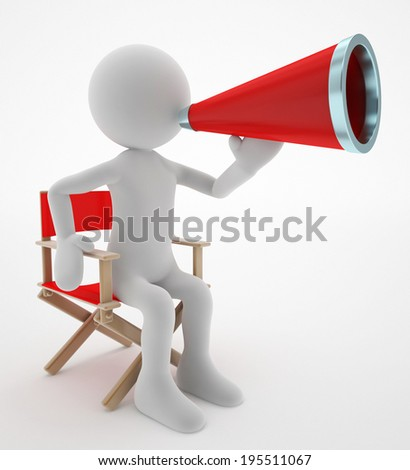 film director say action - stock photo