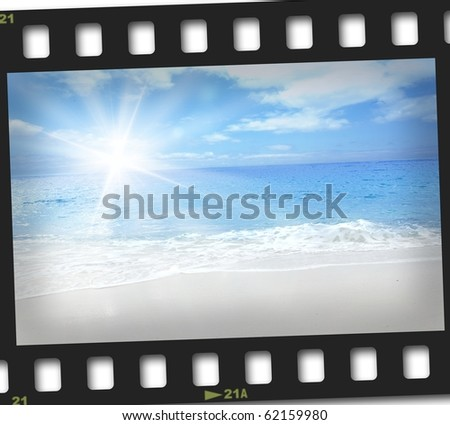 Film image of sands of summer - stock photo