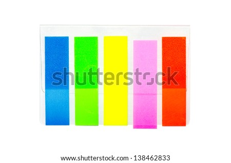 film index five color isolated on white background 3 - stock photo
