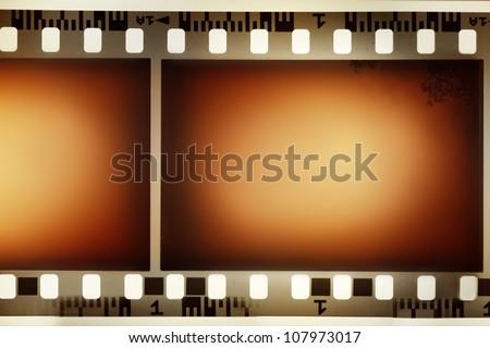 Film negative background, copy space - stock photo
