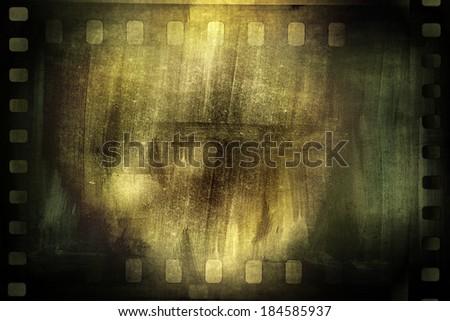 Film negative filmstrip grunge background - stock photo