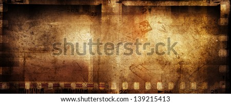 Film negative strips grunge background - stock photo