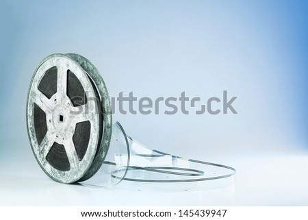 Film reel background with copy space - stock photo