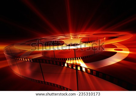 Film reel with shine  - stock photo