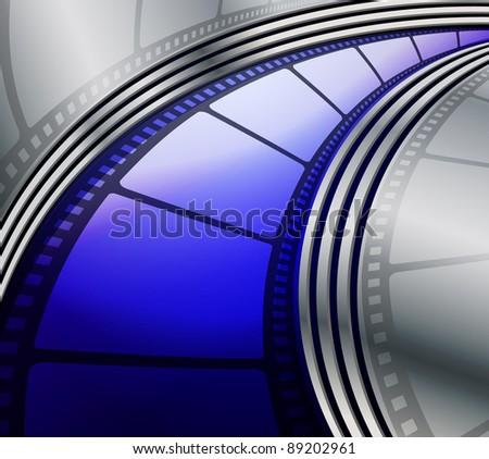 Film strip abstract background, raster illustration - stock photo