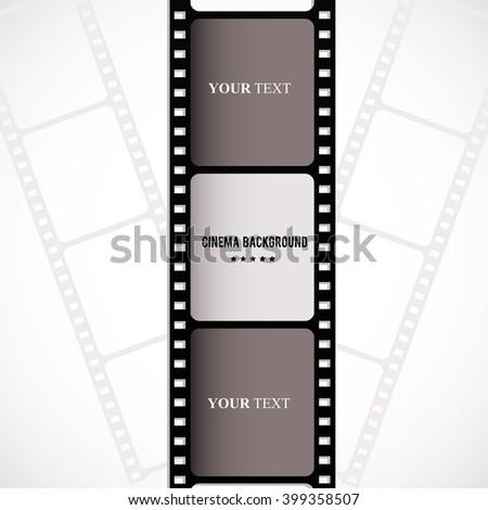 Film strip creative design. - stock photo