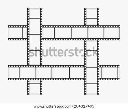 film strip illustration - stock photo