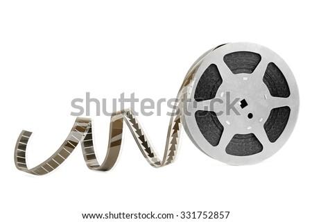 film strip isolated on white background - stock photo