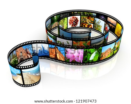 Film strip - isolated on white backgrounds - stock photo