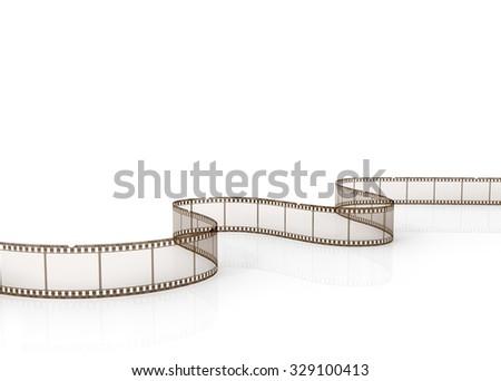 Film strip on a white background. - stock photo