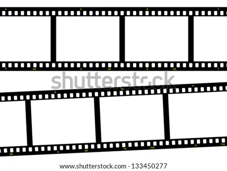 film strip ready to be filled with pictures. Photography concept - stock photo