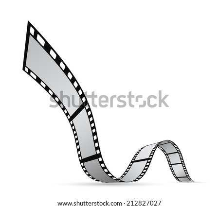 film strip reel background design - stock photo