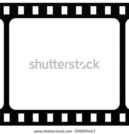 Film stripe icon on white background. - stock photo