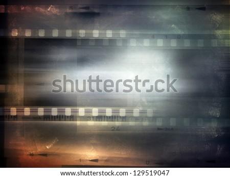 Film strips background, copy space - stock photo