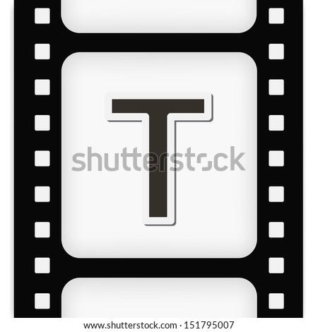Filmstrip  the letter - stock photo