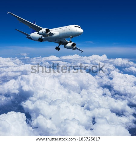 Final approach - stock photo