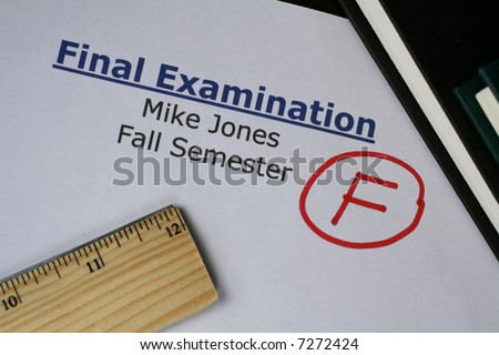 Final Examination Failed - stock photo