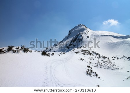 Final part to summit  of Rippetegg, Austria - stock photo
