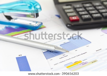 Finance,Analyzing, Market.Analyzing financial data.Market Analyze - pen and numbers on paper. business graph statistics, big data analysis, global seo analytics,financial research report, market stats - stock photo