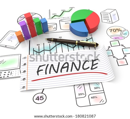 Finance and management as a concept - stock photo