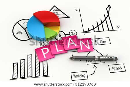 Finance and management planning as a concept - stock photo