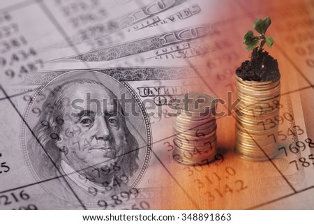 Finance background with money . Finance concept. - stock photo