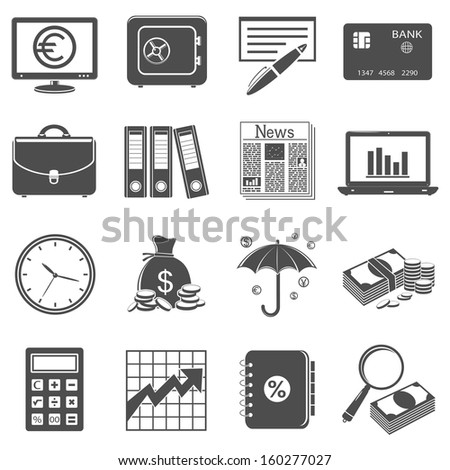 Finance & banking icons - stock photo