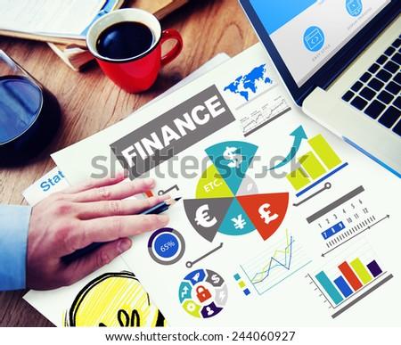 finance bar graph chart investment money business concept - stock photo