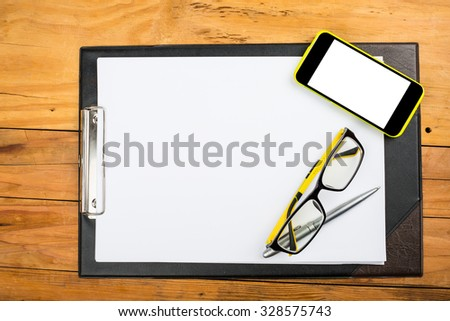 Finance calculate your budget on table. - stock photo