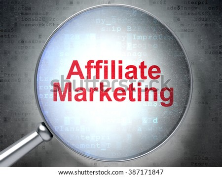 Finance concept: Affiliate Marketing with optical glass - stock photo