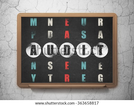 Finance concept: Audit in Crossword Puzzle - stock photo