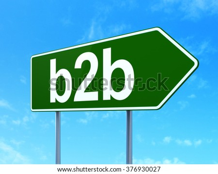 Finance concept: B2b on road sign background - stock photo