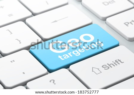 Finance concept: computer keyboard with word Geo Targeting, selected focus on enter button background, 3d render - stock photo