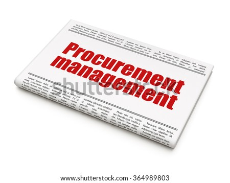 Finance concept: newspaper headline Procurement Management - stock photo