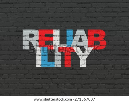 Finance concept: Painted multicolor text Reliability on Black Brick wall background, 3d render - stock photo