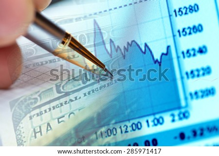 Finance data and money. Business concept. - stock photo