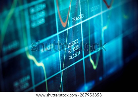Finance data concept - stock photo
