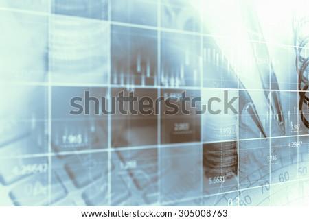 Finance data concept - stock photo