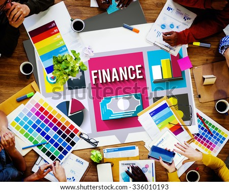 Finance Financial Investment Banking Exchange Concept - stock photo
