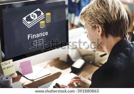 Finance Financial Money Cash Economics Concept - stock photo