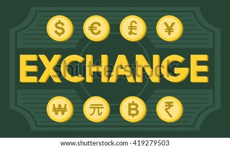 Finance Foreign Exchange Money Symbol Concept - stock photo
