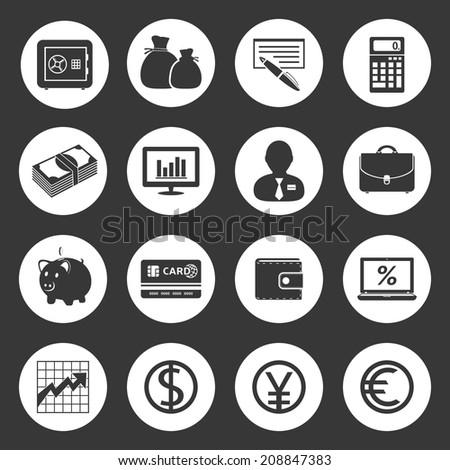 Finance icons - stock photo