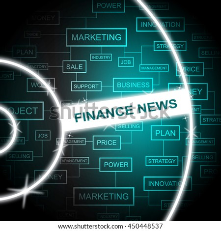 Finance News Meaning Social Media And Information - stock photo