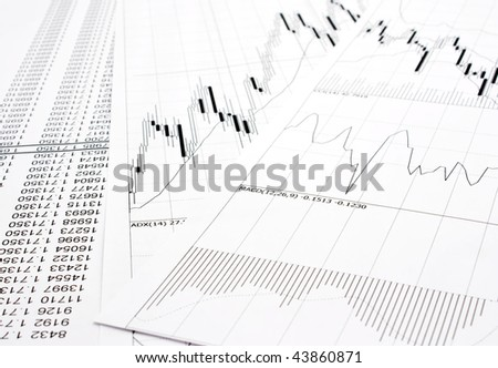 finance report - stock photo