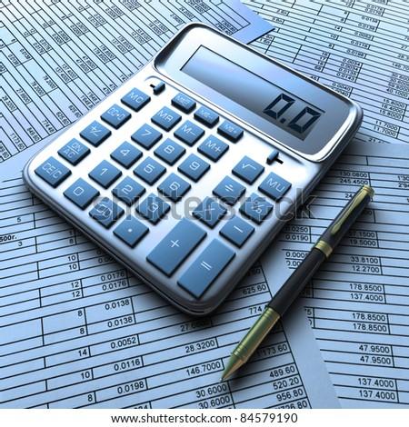 Finance report. - stock photo