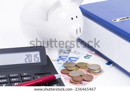 Finances 2015 - stock photo